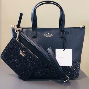 KATE ♠️SPADE GRETA COURT INA + BITSY BLACK 2pc SET